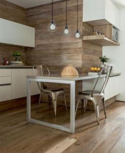 Choisir le revêtement mural de cuisine, bois - Nantes 44