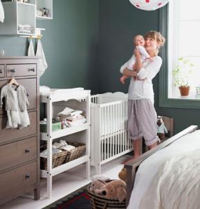 Aménagement de coin bébé dans la chambre parentale  - Nantes 44