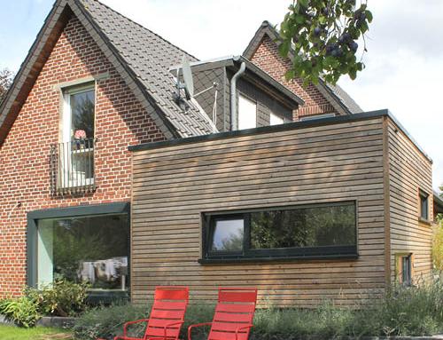 Extension de maison en bois adossée - Nantes 44