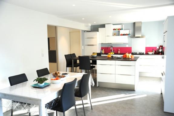 cuisine ouverte sur le salon - Nantes 44