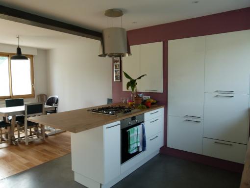 cuisine ouverte sur le séjour - Nantes 44