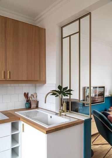 Rafraîchir une cuisine et installer une verrière - Nantes 44
