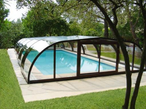 Abri de piscine à mi-hauteur - Nantes 44