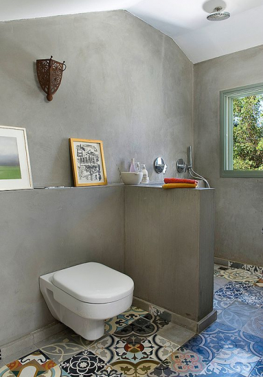 Revêtement mural de salle de bain en béton ciré - Nantes 44