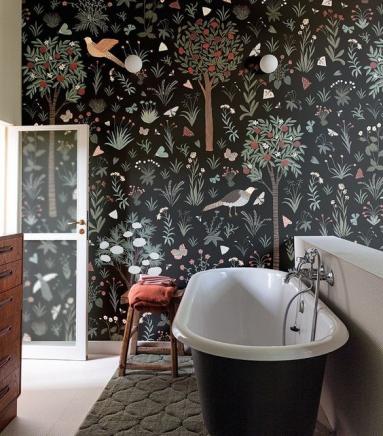 Revêtement mural de salle de bain en papier peint - Nantes 44