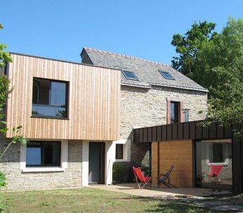 Surélévation ossature bois avec toit plat - Nantes 44.