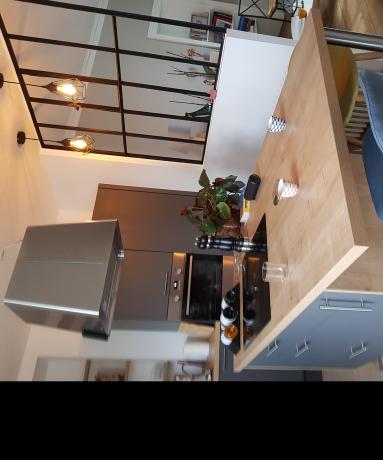 cuisine ouverte avec verrière - Nantes 44
