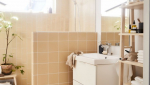 Demi-cloison séparative dans la salle de bain - Nantes 44