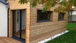 Extension de maison en bois avec bardage bois - Nantes 44