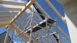 Charpente d'extension bois en cours de construction - Nantes 44