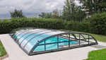 Abri de piscine bas en menuiserie coulissante aluminium - Nantes 44