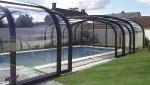Abri de piscine haut en menuiserie coulissante aluminium - Nantes 44